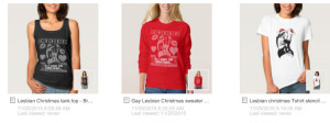 Lesbian Christmas sweater - gay lesbian sweater jumper by Branding Her