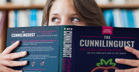Woman reading The Cunnilinguist